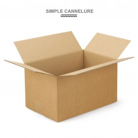 Caisses américaines simple cannelure 350x250x100