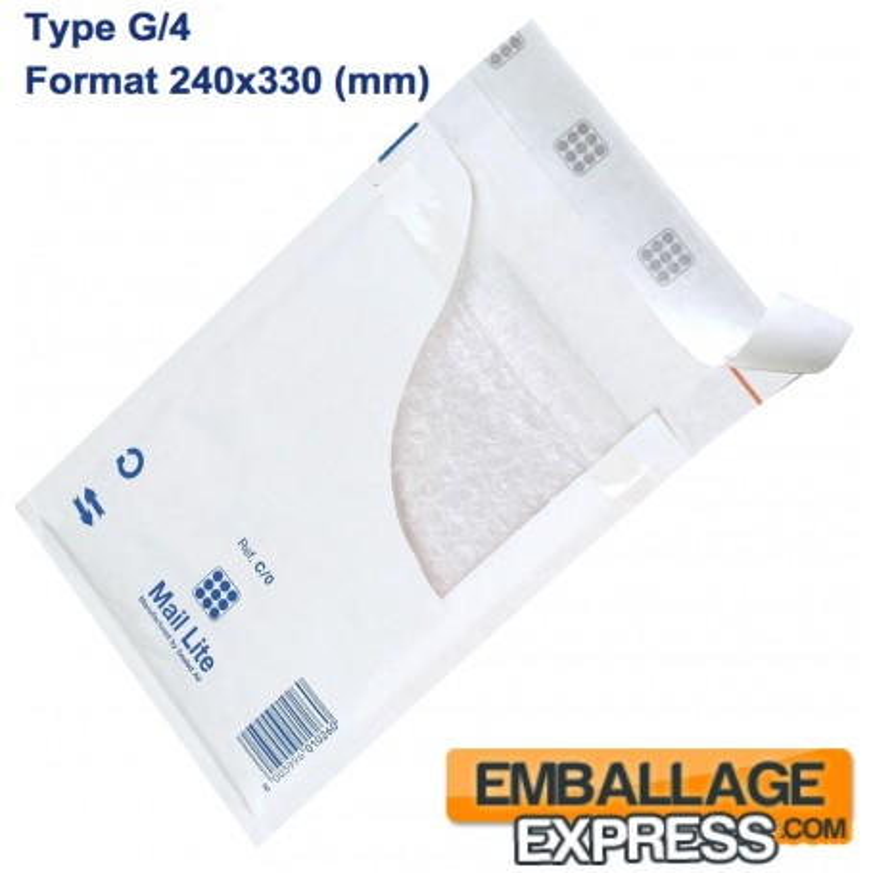 50 Enveloppes à Bulles Type G/4 - Format 240x330 mm