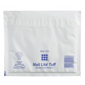 100 Enveloppes à Bulles PLASTIFIEES Type CD - Format 180x160 mm