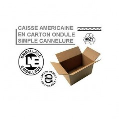 Caisses américaines simple cannelure 400x400x200