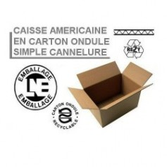 Caisses américaines simple cannelure 430x350x200