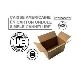 Caisses américaines simple cannelure 425x310x340