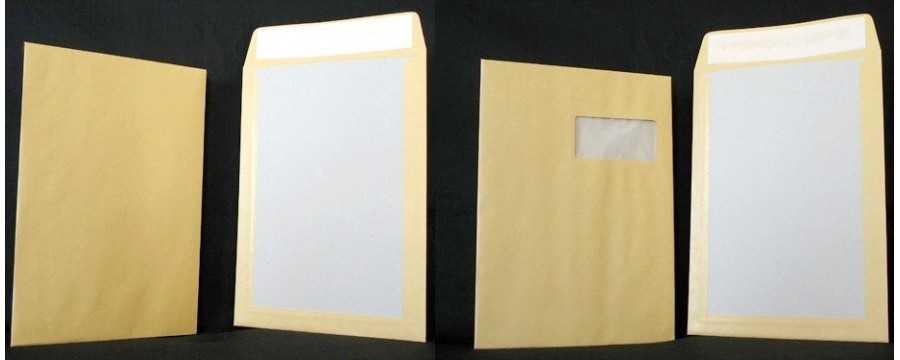 Pochettes dos-carton Kraft