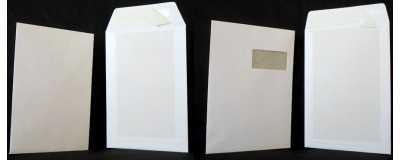 Pochettes dos-carton Blanches