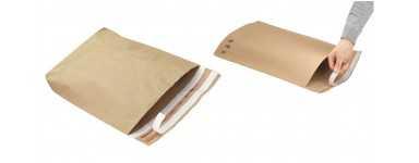 Pochette en papier kraft à soufflet de fond
