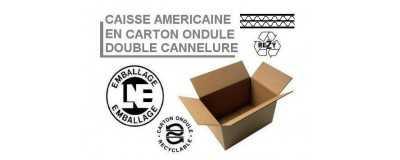 Caisses américaines double cannelure