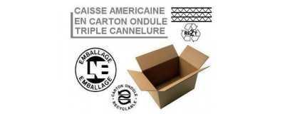 Caisses américaines triple cannelure
